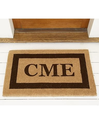 """Personalized Framed Extra-Large Doormat, 30 x 48"""", Espresso"""