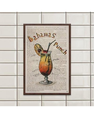 "Ivy Bronx 'Bahamas Punch Ingredients' Framed Watercolor Painting Print IVYB2434 Size: 30"" H x 20"" W x 1.5"" D"