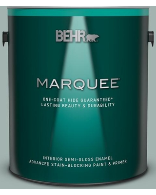 BEHR MARQUEE 1 gal. #PPU12-09 Frozen Pond Semi-Gloss Enamel Interior Paint and Primer in One