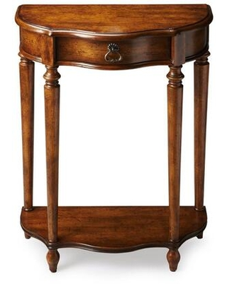 Ashby Collection 2101236 Console Table with Traditional Style Demilune Shape and Cherry Veneer Material in Dark Toffee