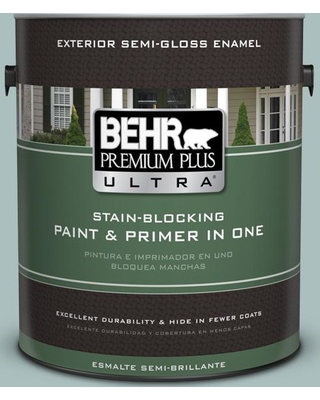 BEHR ULTRA 1 gal. Home Decorators Collection #HDC-CL-15G Morning Parlor Semi-Gloss Enamel Exterior Paint & Primer