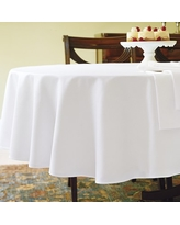 """Hotel Tablecloth, White, 70"""" x 90"""", Oval"""