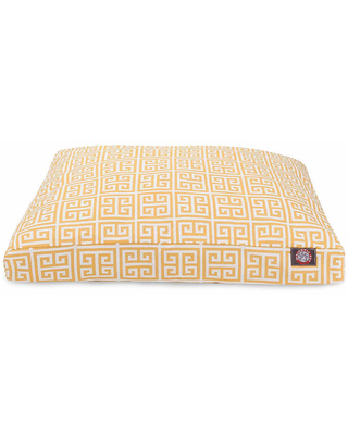 Majestic Pet Towers Rectangle Pet Bed, Yellow