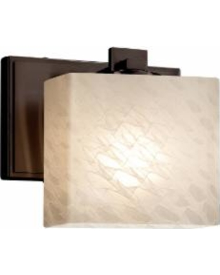 Justice Design Group Fusion 7 Inch Wall Sconce - FSN-8447-55-WEVE-DBRZ