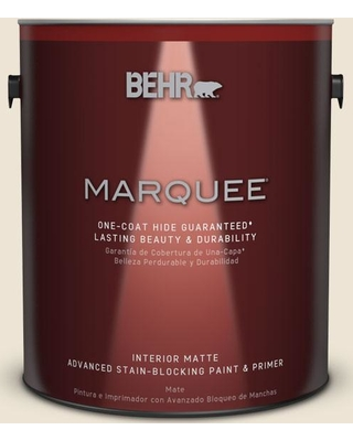 BEHR MARQUEE 1 gal. #T14-3 Miami Weiss Matte Interior Paint and Primer in One