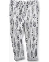 Tea Collection Feather Print Joggers