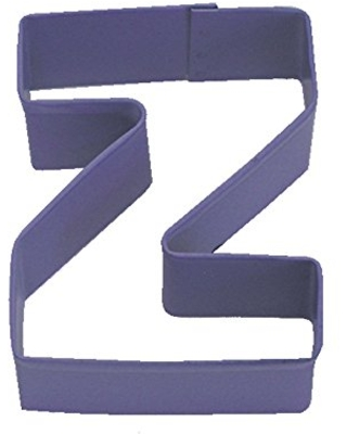 R&M Letter Z Cookie Cutter Purple With Brightly Colored, Durable, Baked-on Polyresin Finish