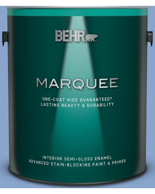 BEHR MARQUEE 1 gal. #590D-4 Romantic Isle Semi-Gloss Enamel Interior Paint and Primer in One