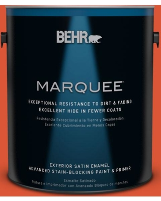 BEHR MARQUEE 1 gal. #P190-7 Inferno Satin Enamel Exterior Paint and Primer in One