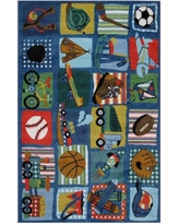 LA Rug Supreme Funky Boys Quilt Multi Colored 3 ft. x 5 ft. Area Rug