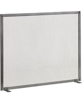 """Industrial Fireplace Single Screen, 36 x 28"""", Vintage Iron"""