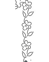 """Quilting Creations Floral Border Quilt Stencil Continuous, 2"""""""