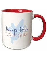 Here S A Great Deal On Morrie Huntington Beach California Decorative Text And A Surfer Image Coffee Mug Latitude Run Color Blue