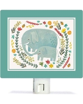 Oopsy Daisy I Carry Your Heart Elephants by Irene Chan Canvas Night Light NB52800