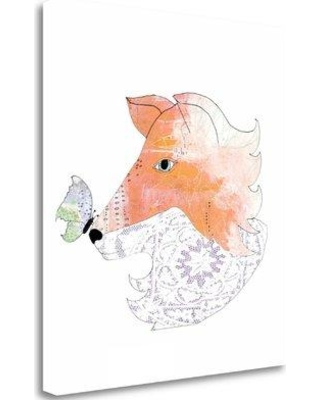 """Tangletown Fine Art 'Lace Fox' Graphic Art Print on Wrapped Canvas SBSO1166-1820c Size: 32"""" H x 28"""" W"""