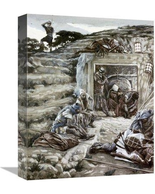 """East Urban Home 'Roman Guards at The Tomb' Print on Canvas ESUH1536 Size: 16"""" H x 13"""" W x 2"""" D"""