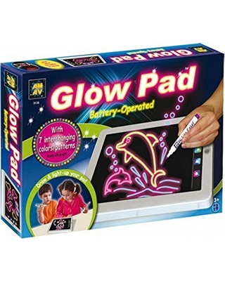 AMAV Toys AMAV Glow Pad - Portable Hi-Tech Drawing Board for kids Toy  Tablet-size With 7 Interchanging Blinking Colorful Lights. Children\'s light  up ...