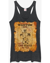 Marvel Deadpool Wanted Poster Womens Tank Top