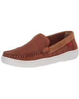 MARC JOSEPH NEW YORK Loafer, Cognac Jeans Perforated/Contrast Binding, 5 US Unisex Little Kid