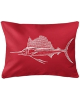 Rosecliff Heights Weatherhill Sailfish Lumbar Pillow ROHE5982 Color: Red