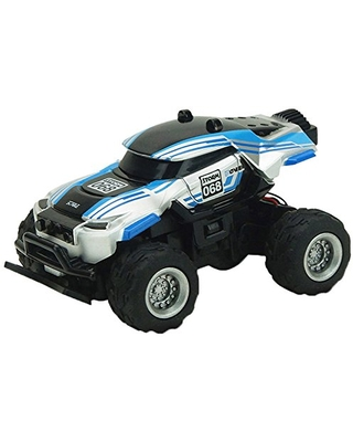 Yiding Racing Car with 4 Channel Radio 1:58 Scale Mini RC Off-Road Vehicle Model Toy Gift for Kids Black and Light Blue