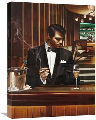 """Global Gallery 'Night Out I' by Pierre Benson Painting Print on Wrapped Canvas GCS-460911 Size: 24"""" H x 18"""" W x 1.5"""" D"""