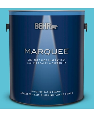 BEHR MARQUEE 1 gal. #P480-4 Rushing Stream Satin Enamel Interior Paint and Primer in One