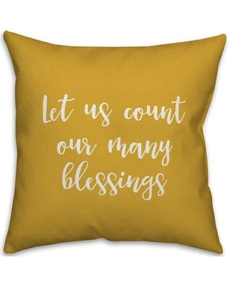 Winston Porter Nerstrand Let us Count Our Many Blessings Pillow W000538712 Product Type: Throw Pillow Color: Mustard