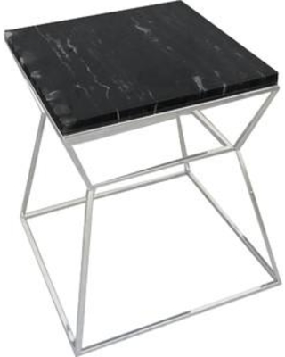 Wade Logan Fern End Table WLGN4112 Table Top Color: Black Table Base Color: Gold
