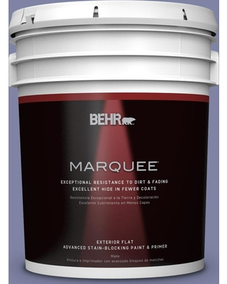BEHR MARQUEE 5 gal. #S540-5 Velvet Curtain Flat Exterior Paint and Primer in One