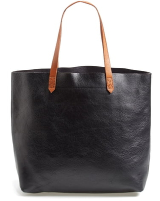 Madewell The Transport Leather Tote - Black