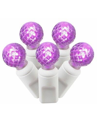 "The Holiday Aisle® 50 Light LED String Lightning in Purple, Size 2""H X 1""W X 300""D 