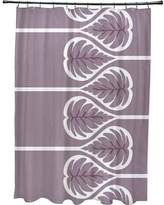 Bay Isle Home Sigsbee Fern 1 Floral Print Shower Curtain BAYI2132 Color: Lavender