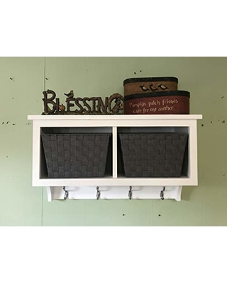 Dont Miss This Deal On Basket Cubby Shelf With Coat Hooks And