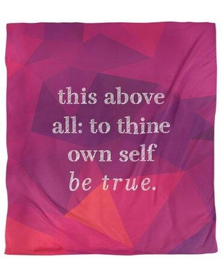 East Urban Home Shakespeare Inspirational Quote Single Duvet Cover FCLK5624 Size: Queen Duvet Cover Color: Rubellite