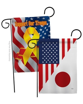 Don T Miss These Deals On American Japan Friendship Impressions Decorative Support Our Troops 2 Sided 18 5 X 18 5 In Polyester Garden Flag Breeze Decor