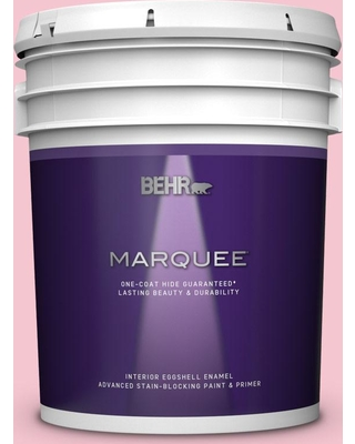 BEHR MARQUEE 5 gal. #120B-4 Old Fashioned Pink Eggshell Enamel Interior Paint and Primer in One