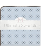 Swaddle Designs Ultimate Receiving Blanket® in Pastel with Brown Polka Dots SD-014PB Color: Pastel Blue