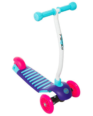 YBIKE GLX Cruze Scooter - Raspberry - Active Play for Ages 2 to 3 - Fat Brain Toys