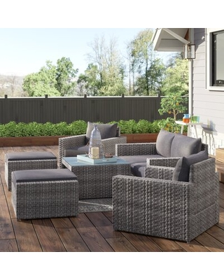 Humnoke 6 Piece Sofa Seating Group with Cushions Sol 72 Outdoor™
