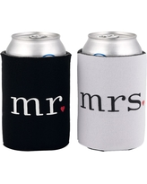 Mr. and Mrs. Can Coolers, Black/White