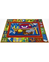 """Kid Carpet Two By Two Bible Area Rug FE784-34A / FE784-44A Rug Size: Rectangle 6' x 8'6"""""""