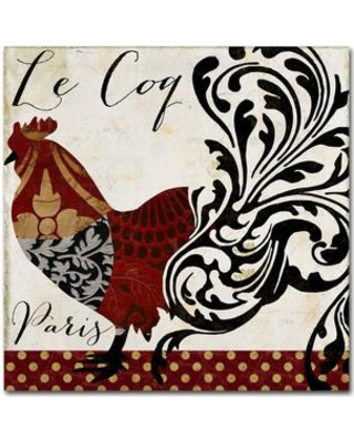 """Trademark Art 'Roosters of Paris I' by Color Bakery Graphic Art on Wrapped Canvas ALI4585-C Size: 24"""" H x 24"""" W x 2"""" D"""