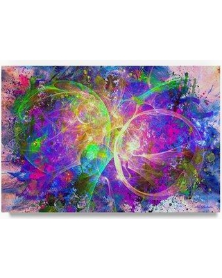 """Ebern Designs 'Color Explosion 11' Oil Painting Print on Wrapped Canvas EBRN2246 Size: 30"""" H x 47"""" W"""