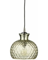 """Clark Collection 10""""W Taupe Jamie Young Glass Mini Pendant"""