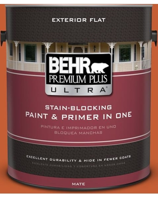 BEHR ULTRA 1 gal. #T18-02 Civara Flat Exterior Paint and Primer in One