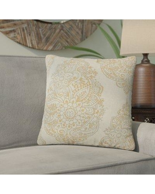 Bungalow Rose Sealey Damask Cotton Throw Pillow BGRS4796 Color: Orange