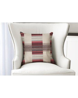 """Ebern Designs Thursa Lt Throw Pillow ENDE3972 Size: 16"""" x 16"""" Location: Indoor Use Only Color: Red/Purple/Gray/Orange"""