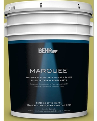 BEHR MARQUEE 5 gal. #PPU9-06 Riesling Grape Satin Enamel Exterior Paint and Primer in One