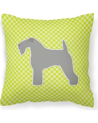 """East Urban Home Kerry Terrier Indoor/Outdoor Throw Pillow FCIS3679 Size: 14"""" H x 14"""" W x 3"""" D Color: Green"""